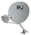 DIRECTV 1820 Phase III Satellite Dish Antenna Triple LNB And Base Mount, NO J-MOUNT