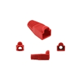 Eagle RJ45 Strain Relief Snagless Boot Red Slide-On RJ-45 Boot Connector Covers, Round UTP Cable Snag-Less Boot Covers for Strain Relief and Plug Tab Protection, Sold as 50 Pack, Part # A080R5