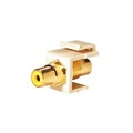 Steren 310-464IV-10 RCA Jack to Jack Keystone Ivory with Yellow Band Connector Insert QuickPort Audio Video Snap-In, Wall Plate Snap-In Data Junction Component Connection, Part # 310464-IV-10