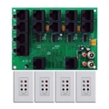 Forte by Steren ABX-84K 4 Input 4 Zone Switching Hub Kit, with 4 Input Modules