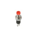 Steren 450-010R Mini Pushbutton SPST Switch Red 1 Amp 125 VAC Brass Silver Contact N/O Monetary Solder Terminal Panel Mountable for New or Replacement Installations, Part # 450010R