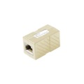 Eagle CAT5E Inline Coupler Ivory RJ45 Female to Female 8P8C 350 MHz Ethernet Cable Pass Through Ivory Jack to Jack RJ-45 Inline CAT-5E Patch Cable Inline Coupler Connector Category-5e