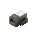 Steren 310-042BK Keystone CAT5E Coupler Jack to Jack RJ45 RJ-45 Black Modular Keystone Insert Coupler Cable Connector Jack Category-5e Telephone Data Line Plug Jack, Part # 310042-BK