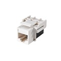 Steren 310-042WH Keystone CAT5E Coupler Jack to Jack RJ45 RJ-45 White Modular Keystone Insert Coupler Cable Connector Jack Category-5e Telephone Data Line Plug Jack, Part # 310042-WH
