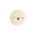 Steren 300-054IV Round Circular Phone Jack Wall Plate Ivory Modular 4-Conductor Telephone Jack Wall Plate RJ11 6P4C Gold Plated Contacts Flush Mount RJ-11 Data Signal Line Plug Face Round Telephone Cover, Part # 300054-IV