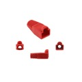 Eagle RJ45 Snagless Boot Red Slide-On RJ-45 Boot Connector Covers, Round UTP Cable Snag-Less Boot Covers for Strain Relief and Plug Tab Protection, Sold as Singles, Part # AC080R