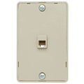 Eagle Hanging Telephone Jack Wall Plate Surface Mount Light Almond RJ11 Face Plate 4 Conductor 6P4C Surface Plate