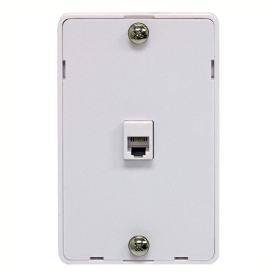 Steren 300-094WH Phone Jack Wall Plate Modular White Surface Mount ...