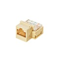Eagle CAT3 RJ45 Keystone Jack Modular Ivory 8-Conductor Insert Ivory Network Telephone 8P8C RJ45 QuickPort RJ-45 Jack Category-3 Telephone Data Line Plug Jack