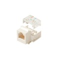 Eagle CAT Keystone Jack White RJ45 Data  8 Conductor 8P8C Modular Data Voice Telephone 8P8C RJ45 CAT3 Modular Keystone Insert RJ-45 QuickPort Jack Category-3 Telephone