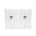 Eagle HDMI Over Cat5e Wall Plate White 1080p 1.3 HDTV Face Plate Pair 1 HDMI Input Plate and 1 HDMI Output Plate Signal Transfered Via CAT-5e Cable, High Definition Interface HDTV Applications