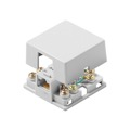 Leviton Surface Mount Phone Modular Block Box Jack Terminal White 6P4C Gold Plated Contact Pins Telephone 6 Position 6 Conductor Modular Plug Connection Jack, Part # 633-C2542W