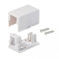 Steren 310-161WH Keystone Surface Mount Biscuit Housing Single One Port White Jack Block RJ45 Modular Junction Box Phone Line RJ-45 Telephone Connection, UL Listed, Part # 310161-WH