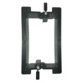 Eagle Wall Plate Mounting Bracket Single Gang PVC Low Voltage Box Drywall Wall Plate Insert Telephone Audio Video, Part # DCEC1GWB