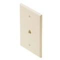 "Steren 300-203AL Wall Plate Mid Size Phone Almond RJ11 Jack Oversize 3 1/8"" x 4 7/8"" Face Plate 4-Conductor RJ-11 Modular Telephone Gold Contacts 6P4C Jack Face Plate Audio Signal Data Plug, Part # 300203-AL"