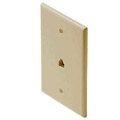 "Steren 300-203IV Telephone Wall Plate Ivory RJ11 Rack Mid Size Oversize 3 1/8"" x 4 7/8"" Modular Phone Jack Face Plate 4-Conductor RJ-11 Gold Contacts 6P4C Jack Face Plate Audio Signal Data Plug, Part # 300203-IV"