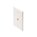 "Steren 300-203WH Wall Plate Mid Size Phone White RJ11 Jack Oversize 3 1/8"" x 4 7/8"" Face Plate 4-Conductor RJ-11 Modular Telephone Gold Contacts 6P4C Jack Face Plate Audio Signal Data Plug, Part # 300203-WH"