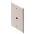 Eagle Phone Wall Plate Light Almond RJ11 Modular Jack 6P4C 4 Conductor Wire Flush Single Gold Plate Contacts Telephone Smooth Finish RJ-11 Jack