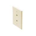 "Steren 300-213AL Dual RJ11 Telephone Wall Plate Almond Mid Size Phone 2-Jack Mid Oversize 3 1/8"" x 4 7/8"" Face Plate 4-Conductor RJ-11 Modular Phone Gold Contacts 6P4C Jack Face Plate Audio Signal Data Plug, Part # 300213-AL"