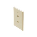 Eagle Dual Telephone Jack Wall Plate Ivory RJ12 6P6C Modular RJ-12 Telephone Data Line Audio Signal Double Plug Cover