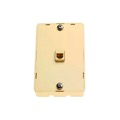 Leviton C2455-I 3 Jack Ivory Wall Plate Phone Surface Mount Jack 6P4C Modular Wall Mount 1 Pack Telephone Hanging Bracket, Data Signal Plug Jack Flush, Part # C2455I