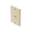 Leviton C0253 Ivory Wall Plate Phone Jack Surface Mount 6P4C Modular Wall Mount 1 Pack Telephone Hanging Bracket, Data Signal  Plug Jack Flush, Part # C0253I