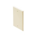 Steren 200-258AL Blank Almond Cover Wall Plate Single Gang Flush Mount Wall Cover Plate Almond Installation Box Cover, High Impact ABS Construction, 1 Pack, Part # 200258-AL
