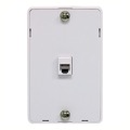 Eagle Phone Jack Wall Plate White Surface Mount Hanger Modular 4-Condctor RJ-11 6P4C UL