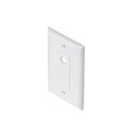 Eagle Wall Plate White Single Hex Hole Offset Decorator Style 1-Socket Faceplate Single Gang Coaxial Pass Through Connector Nylon Flush Mount Cover