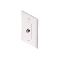 Steren 200-266WH 1 GHz F Wall Plate White F-81 HDTV Video Wall Plate 75 Ohm 1 Pack TV Aerial Antenna Plug, Flush Mount Female Outlet Connector, Part # 200266-WH