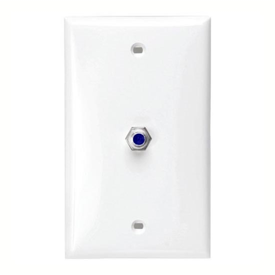steren 200267wh 25 ghz f connector wall plate white high frequency satellite f