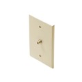 "Eagle Midsize F-Connector Wall Plate Ivory HDTV Video Oversize 3 1/8"" Inch Wide x 4 7/8"" Tall F-81 Wall Plate 75 Ohm 1 Pack TV Aerial Antenna Plug"