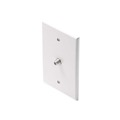"Steren 200-411WH Midsize F-Connector Wall Plate White HDTV Video Oversize 3 1/8"" Inch Wide x 4 7/8"" Tall F-81 Wall Plate 75 Ohm 1 Pack TV Aerial Antenna Plug, Part # 200411-WH"