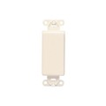 Leviton 80414I Ivory Decora Style Blank Insert Face Flush Mount Nylon Insert for Decora Opening Covers, Part # 80414-I