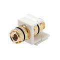 Eagle Banana Binding Post Keystone Single White Insert Black Band Gold 5-Way Audio Speaker Double Band White Jack Connector QuickPort Component Snap-In Wall Plate Module