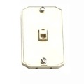 Phone Wall Mount Plate Jack RJ12 RJ-12 3 Pack Modular White 6P6C Conductor Surface Audio Data Line Signal Hanger Bracket, Part # Leviton C2663-W, C2663W