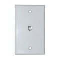 Phone Jack Wall Plate White 6P6C RJ12 RJ-12 Conductor 5 Pack Modular Flush Mount Audio Data Line Signal, Part # Leviton C2675-W, C2675W
