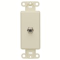 Leviton 40681I Ivory Decora Style F-81 Insert Face Flush Mount Nylon Cable Satellite Video Signal Outlet Insert for Large Device Jack Component Switch Opening Covers, Part # 40681-I