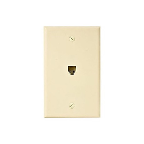 eagle telephone jack wall plate ivory rj11 modular 4 conductor phone rh summitsource com Old Phone Jack Wiring RJ11 4 Pin Wiring Diagram