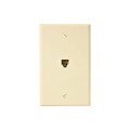 Eagle Telephone Jack Wall Plate Ivory RJ11 Modular 4-Conductor Phone Data Plate Jack 6P4C Conductor RJ-11 Wire Flush Mount Audio Signal Telephone Line Plug Jack