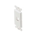 Eagle 1 Port Decora Type Keystone Insert White Module Plate White 1 Port Decorator ABS Plastic White Easy Data Junction Component Snap-In Insert