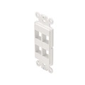 Eagle 4 Port Keystone Insert White Decora SKY06224W ABS Plastic Easy Data Junction Component Snap-In Steren Insert