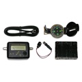 Signalcat SC-10S Satellite Signal Strength Meter Kit with Compass and Power Signal Supply Battery Pack Signal Meter Read-Out Single LNB Receiver Powered Antenna Alignment