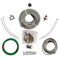 Satellite Dish Coax Cable Kit RG6 DIRECTV Installation DBS Dish Self Install Kit TV Antenna Coax Cable Kit Alphastar Hardware Professional Install Sky Kit Deluxe, Do It Yourself