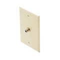 Steren 200-267AL 2.5 GHz Single F-Connector Wall Plate Almond Coax Cable Video Satellite HD TV Antenna 75 Ohm Signal Plug Connector Flush Mount Outlet 1 Port Cover, 1 Pack, Part # 200267-AL