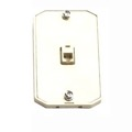 Phone Wall Mount Plate Jack RJ12 RJ-12 Modular White 6P6C Conductor Surface Audio Data Line Signal Hanger Bracket, Part # Leviton C2663-W, C2663W