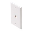 Leviton C2675 White Phone Jack Wall Plate 6-Wire 6P6C RJ12 Modular RJ-12 Conductor 1 Pack Modular Flush Mount Audio Data Line Signal, Part # C2675W