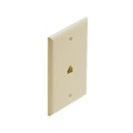 Steren 300-206IV 6-Conductor Smooth Finish Flush Wall Plate Ivory Phone 6P6C Faceplate RJ12 Jack Wall Plate Modular RJ-12 Conductor 1 Pack Modular Flush Mount Audio Data Line Signal, Part # 300206-IV