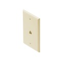 Eagle Telephone Wall Plate Jack Almond RJ11 4-Conductor 6P4C Single Gang Flush Modular Gold Plated Contacts 1 Socket  UL RJ-11 Face Plate Audio Signal Data Line Cord Plug