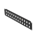 Eagle 24 Port Blank Keystone Patch Panel Commercial Grade 2 Row 19 Inch Rack Hardened Steel Modular Inserts ID Ports Labeled Rack Bracket Mountable 16 AWG Black Powder Coated Steel